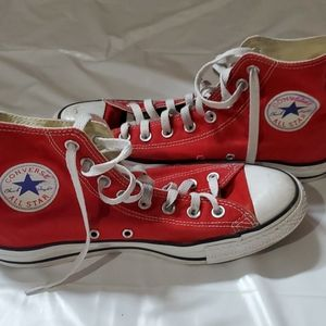 Converse all star red hightops